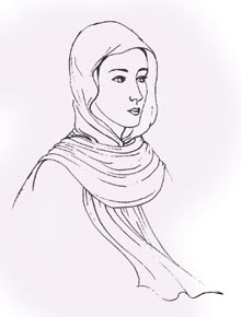 Medieval woman=s head covering-01