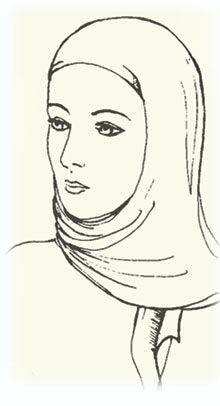 Medieval woman=s head covering-04